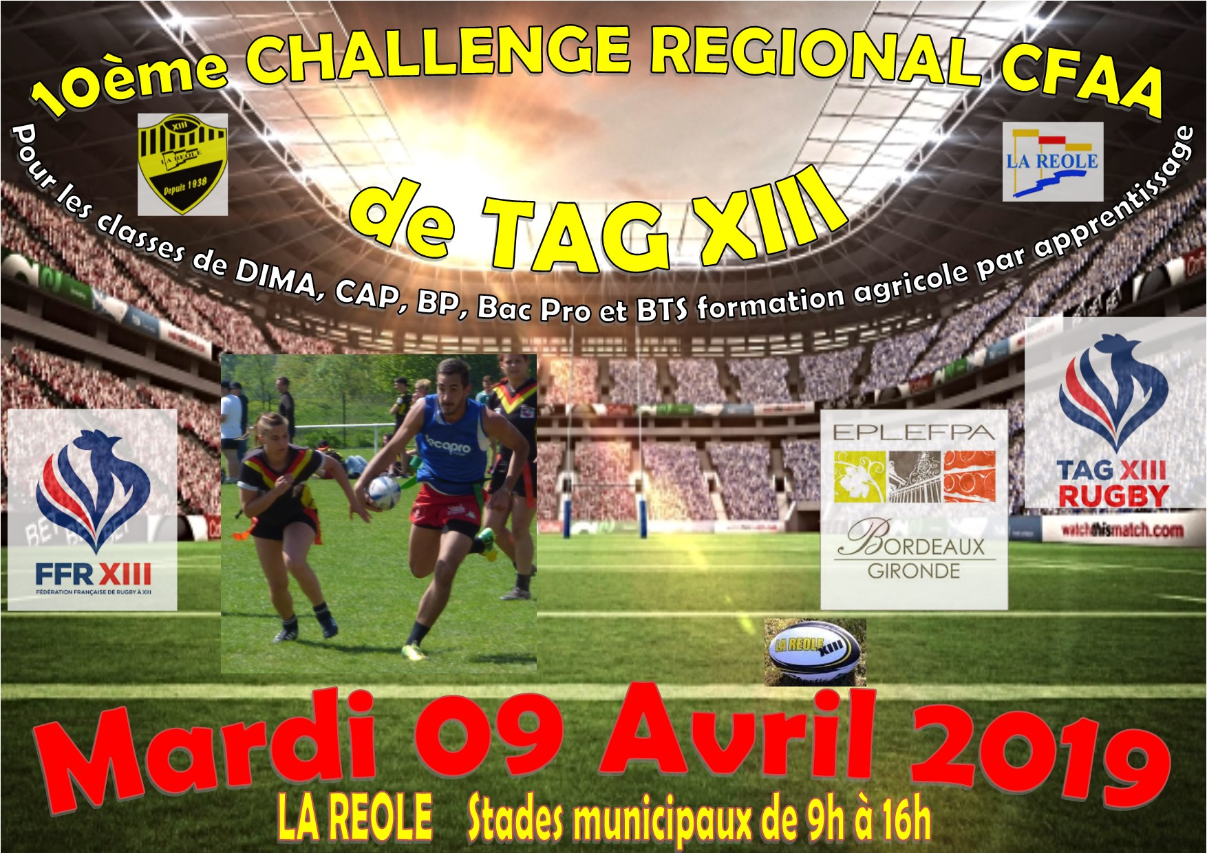 Affiche 2019 RUGBY TAG XIII